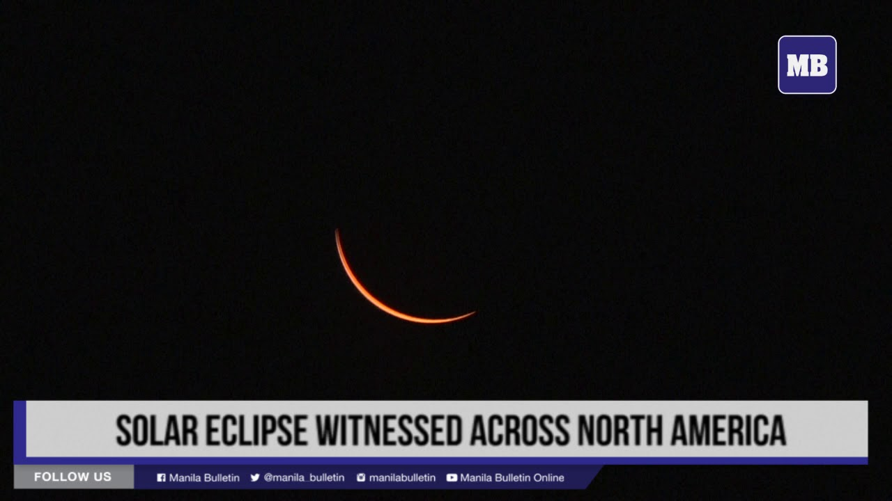 Solar eclipse witnessed across North America
