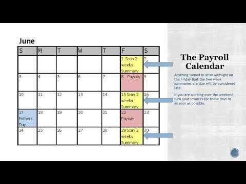 Payroll Calendar Walkthrough