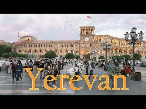 Yerevan Armenia 4K. The Capital Of Armenia
