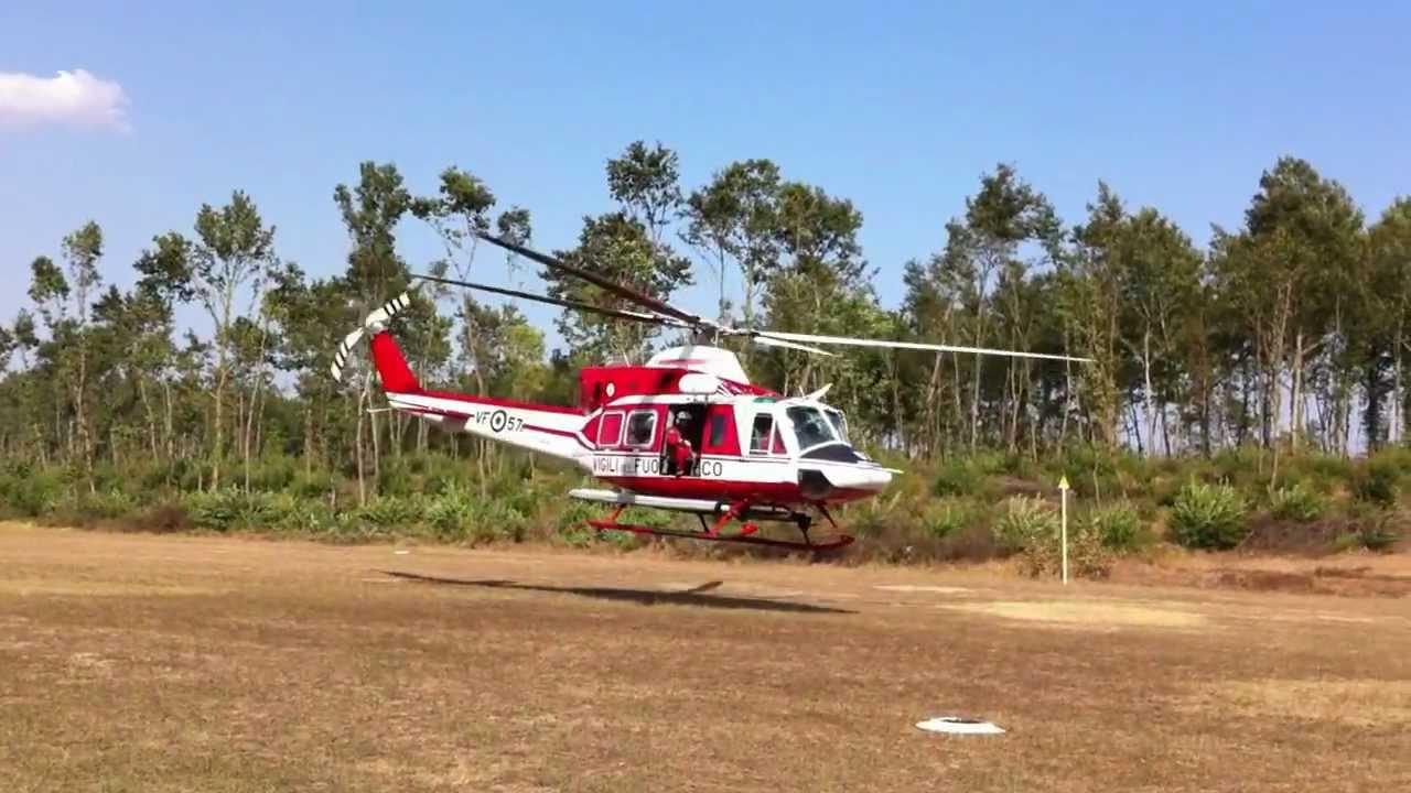 Elicottero 412 : Aviosuperficie alisoriano elicottero ab dei vigili del
