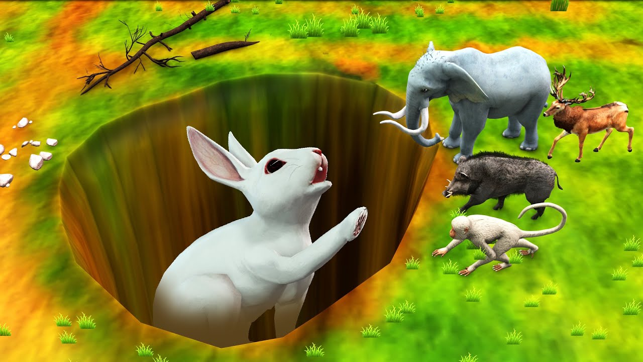 विशाल छेद खरगोश बचाव Giant Hole Rabbit Rescue हिंदी कहानिया Hindi Kahaniya Hindi Stories