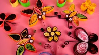 Paper Quilling Tutorial # 1 - How To Make Butterfly @ jaipurthepinkcity.com
