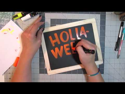 Llamas Love Lettering - Chalk Pen Lettering and a Chalkola Marker Review