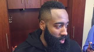 James Harden Postgame Interview / Rockets vs LA Clippers