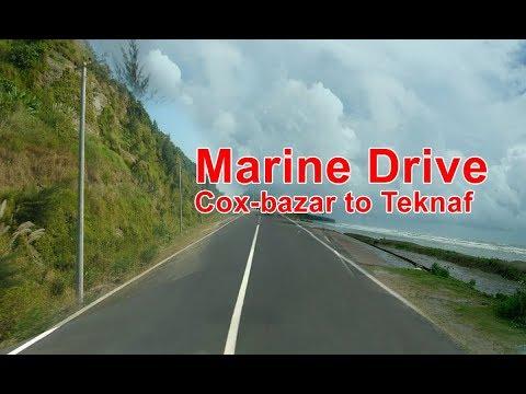 Cox bazar to teknaf marine drive Road