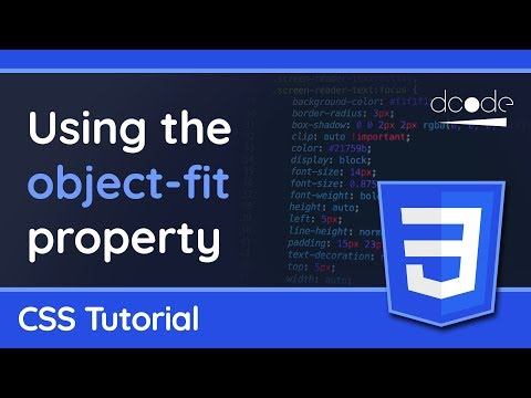 The Object-fit Property In CSS - Maintain Aspect Ratio On Images Or Video - Web Design Tutorial