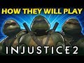 Injustice 2 - How the Ninja Turtles will Play - Team Character Analysis
