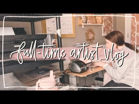 Full-time Artist Vlog | Fulfilling Orders, Supplies Haul, Printing + Packaging