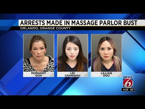 Arrests made in massage parlor prostitution bust