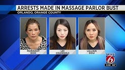 Arrests made in massage parlor prostitution bust