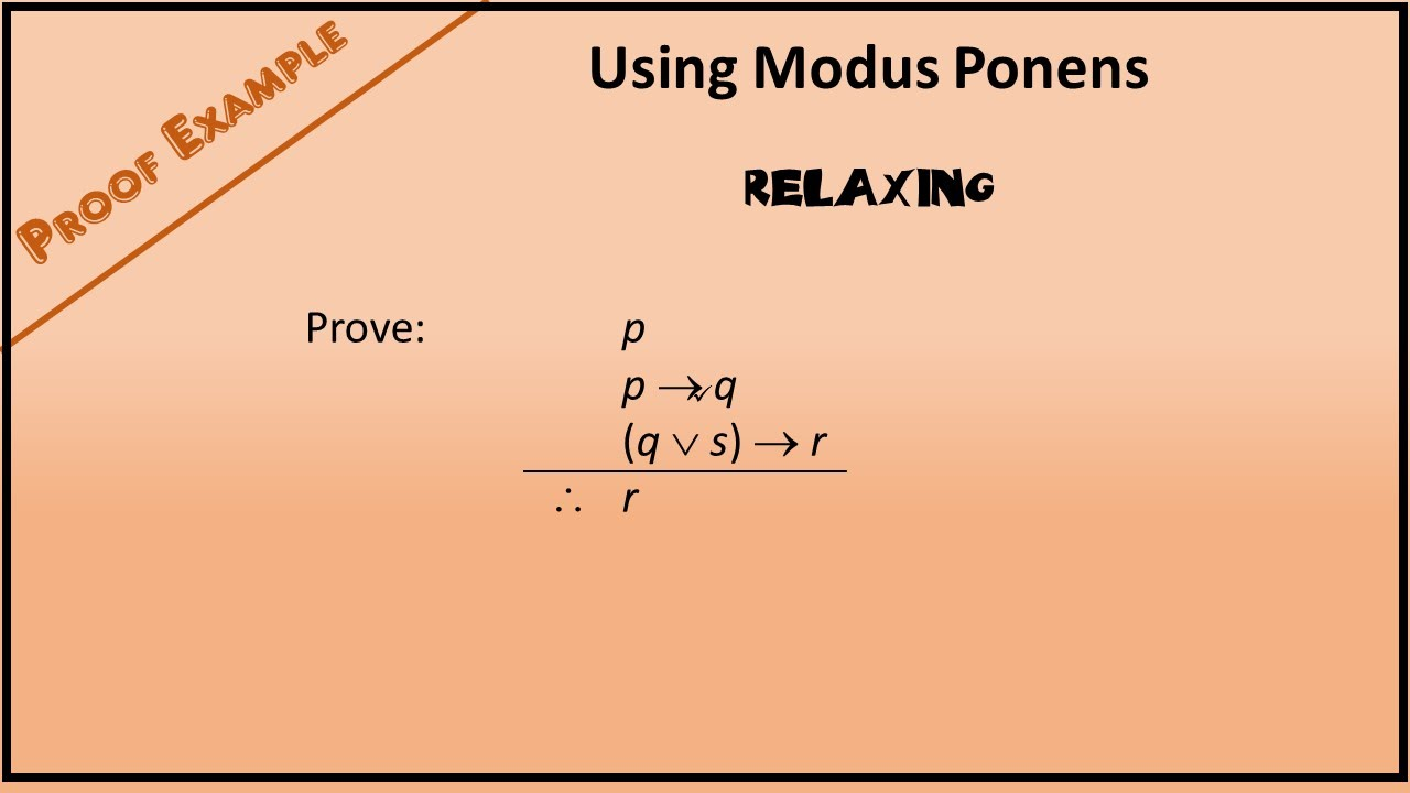 boolean proof example 1 using modus ponens youtube. Black Bedroom Furniture Sets. Home Design Ideas