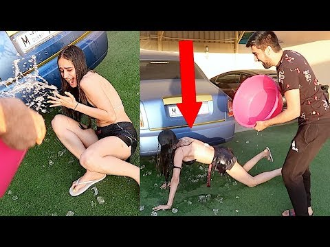 ICE WATER PRANK ON TANNING GIRL ...