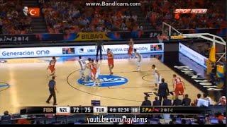 Türkiye - Yeni Zelanda | İnanılmaz Geri Dönüş ! | FIBA 2014 World Cup