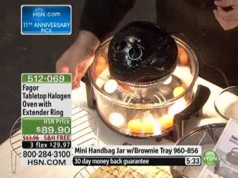 Fagor Tabletop Halogen Oven With Extender Ring