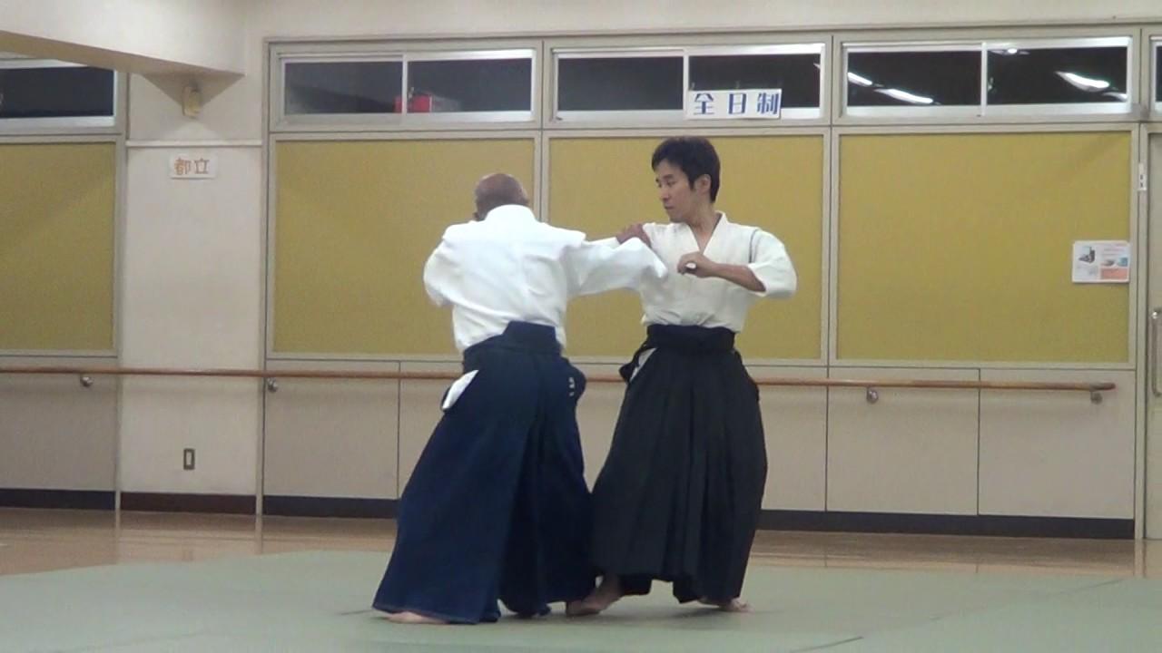 Th Dan Aikido Master Shows A Technique