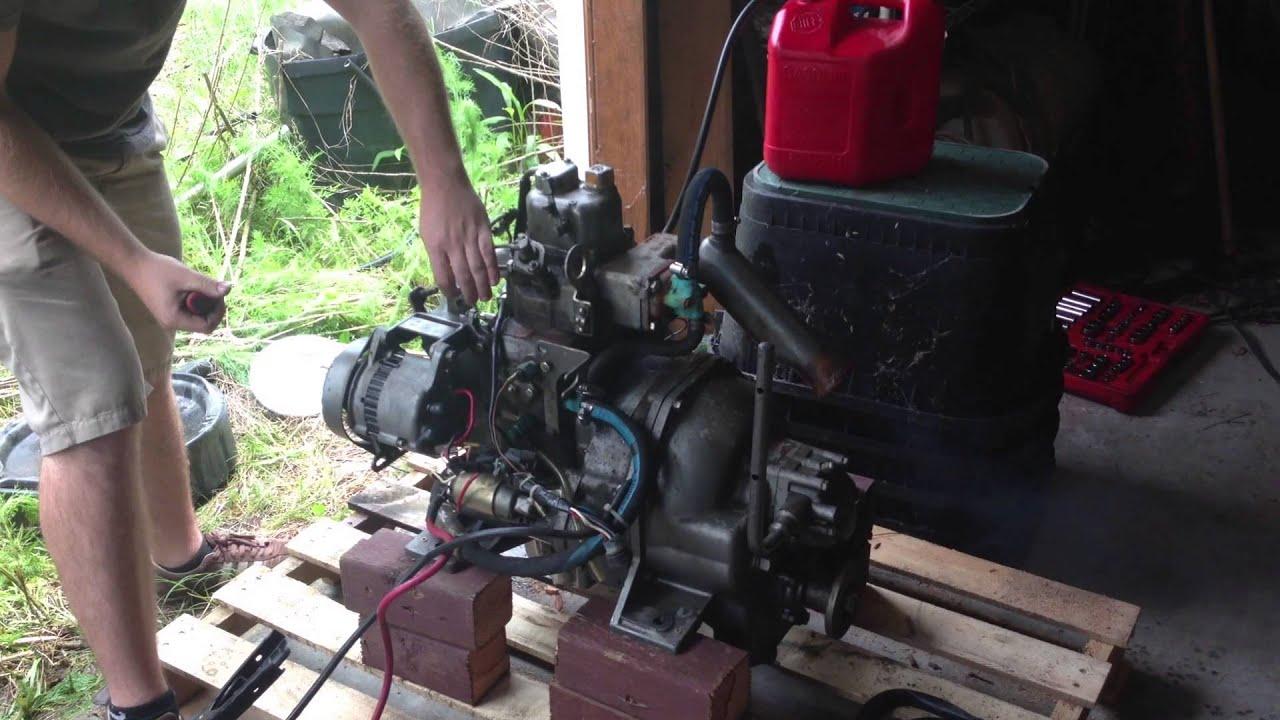 Yanmar sb8 marine diesel engine youtube for Diesel marine motors for sale