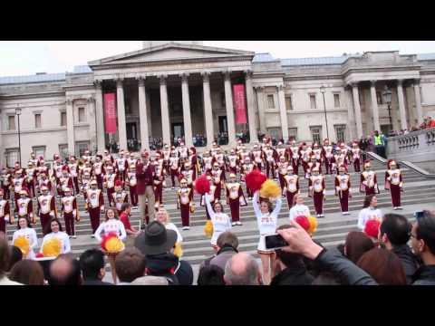 USC Trojan Marching Band (Trafalgar Square, London 20.05.2012)