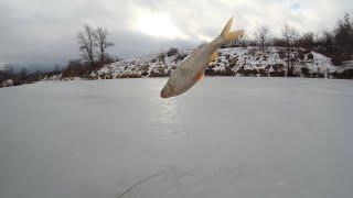 Зимняя рыбалка на реке в феврале перед резким похолоданием
