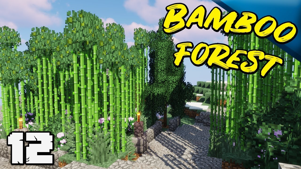 Building A Custom Bamboo Forest Minecraft 1 13 Decidedly Vanilla