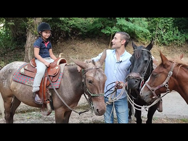 Il mulo protagonista dei festeggiamenti a Tor Lupara e il suo padrone Nazzareno Aureli.