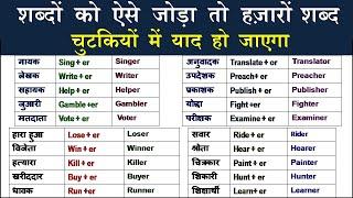 सबसे ज्यादा बोले जाने वाले Suffix English words/ Most Useful Daily Use suffix Words/Daily vocabulary