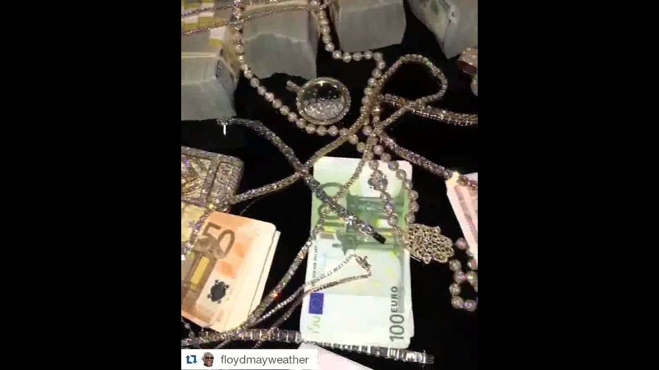 floyd mayweather 2016 new jewelry foreign money