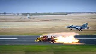 Mãn Nhãn Xe Khủng Gắn Động Phản Lực So Tài Máy Bay - Cars assembled by jet engines 😁CTN😁
