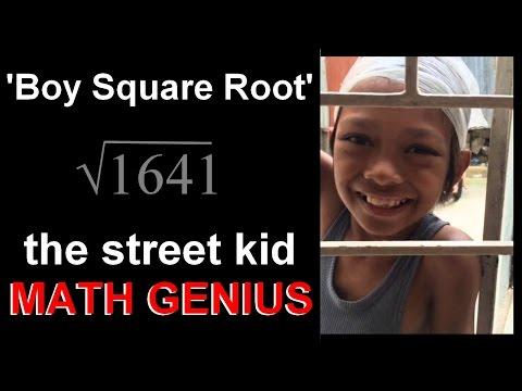 Street Kid MATH GENIUS