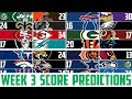 NFL Week 3 SCORE PREDICTIONS 2018 - NFL Picks Against the Spread WEEK 3 (NFL BETTING)