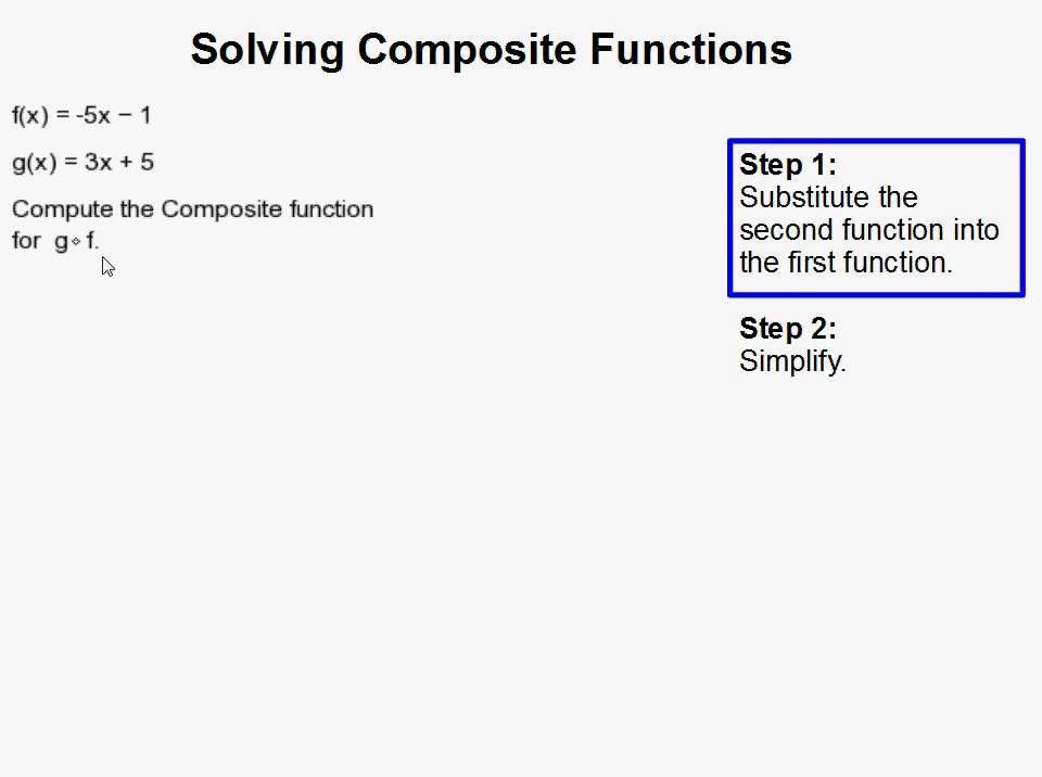 How to Solve Composite Functions YouTube – Composition of Functions Worksheet