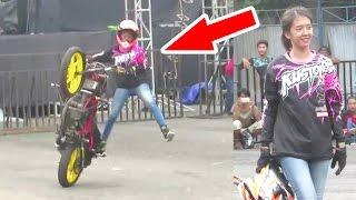 Download Video Nadije, Cewek Cantik Atraksi Freestyle Motor - Stunt Rider Wanita Indonesia (Kustomfest 2016) MP3 3GP MP4