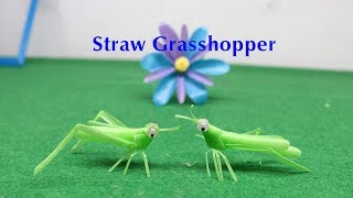 How to make a Grasshopper with a Straw