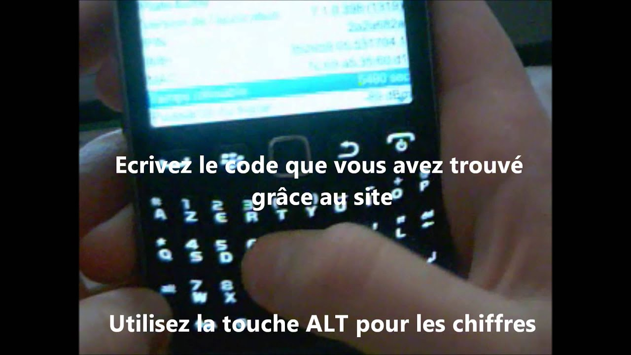 calculateur de code mep2 blackberry