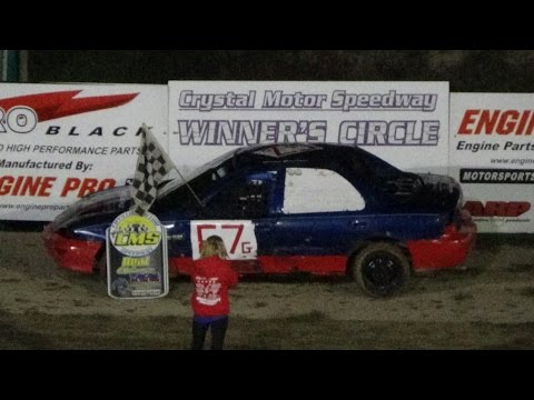 Flinn Stock Heat Race #2 at Great Lakes Nationals, Crystal Motor Speedway, 09-17-16