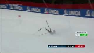 Lindsey Vonn Crash: Schladming - WORLD CHAMPIONSHIP-SUPER G: Skier Airlifted To Hospital