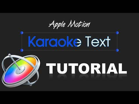 Apple Motion - Karaoke Text (Tutorial)