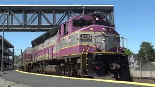 Awesome Horn Shows from MBTA & Amtrak Trains at Mansfield & Canton Junction Stations!
