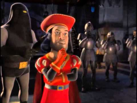 Shrek 1 -  Lord Farquaad eligiendo princesas