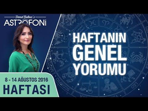 Haftalık Astroloji Ve Burç Yorumu Videosu 08 - 14 Ağustos 2016