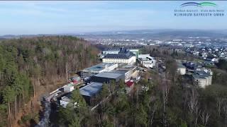 Die betriebsstätte hohe warte der klinikum bayreuth gmbh aus drohnen-perspektive.