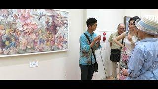 Nagi explain this Art to Ono-san 2018. 岩崎ナギ作品を小野さんに説明