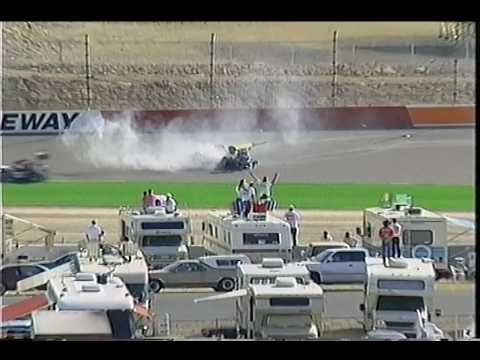 Rex Beach   Supermodified Crash   1997 Copper World Classic at Phoenix International Raceway