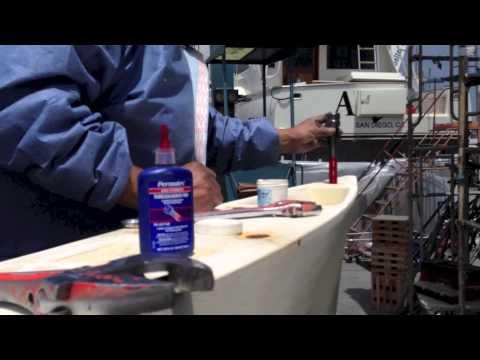 Keel Install on a Jeanneau 41 Deck Salon Sailboat By: Ian Van Tuyl at IVT yachtsales