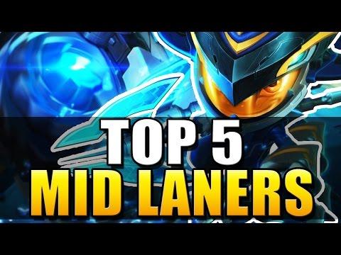 TOP 5 BEST MID LANERS | Patch 6.9 - League of Legends