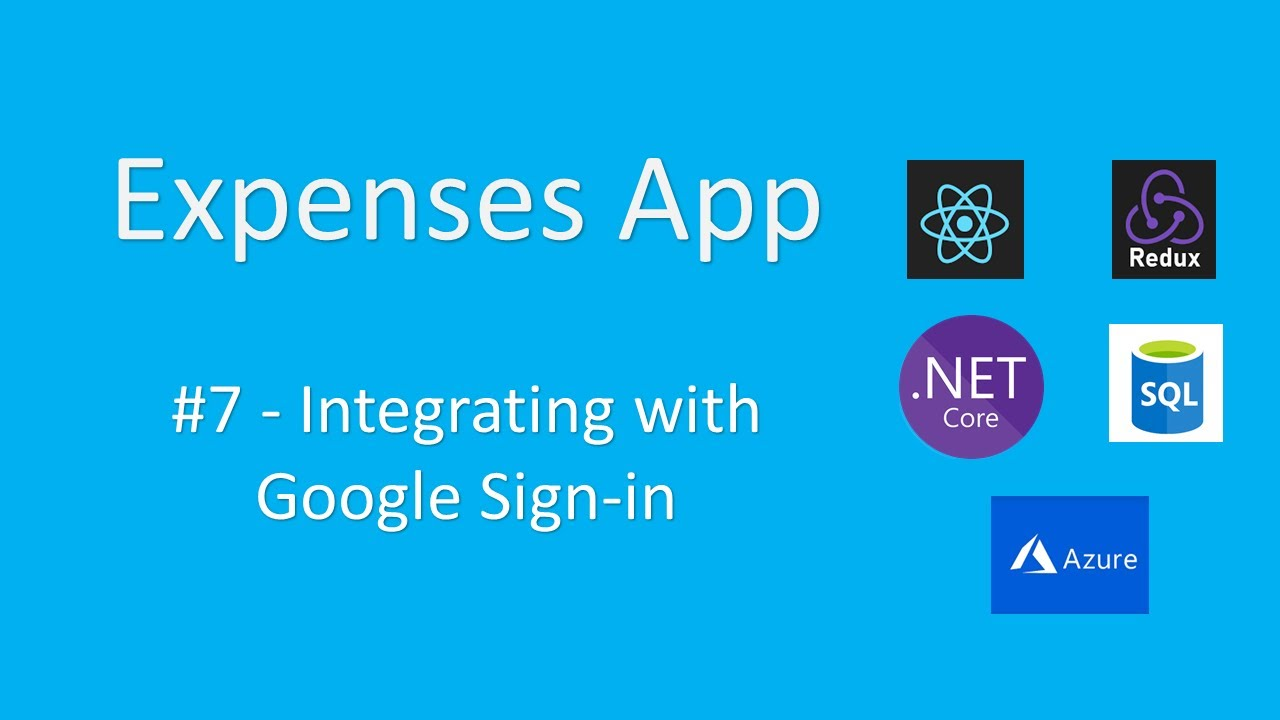 Expenses - Integrating Google Sign-In