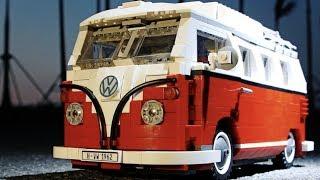 LEPIN 21001 Volkswagen T1 Camper timelapse 8 часов сборки! Китайский конструктор аналог LEGO 10220