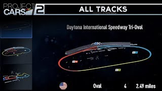 Project Cars 2 - All Tracks/Circuits/Map (Complete Track Lists)
