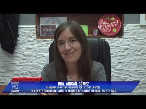Abigaíl Gómez   Contundente triunfo de Juntos 4to lugar en Diputados