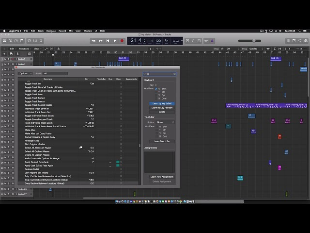 Logic Pro copy-splice section between locators (Global)