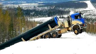 Extremely Dangerous & Idiots Truck Driver Skills ! Truck Overload Climbing Steep Hills